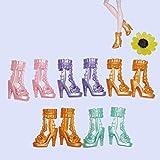 Froiny 10 Paare Spielzeug Schuhe Mädchen Puppe Bunte Zubehör Sandalen Puppe Miniatur Schuhe Kinder Puppe Dekoration