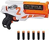 NERF Hasbro E79214R00 Ultra Two motorisierter Blaster – schnelles Nachladen von hinten – enthält 6 Ultra Darts Ultra Darts kompatibel