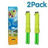 E-Know 2 Pack Seifenblasen-Stab Riesenseifenblasen für Seifenblasen Partei-Edelstahl machte das teleskopische Entwurfs-einfache Tragen für Garten Spielzeug Outdoor Spielzeug(MEHRWEG)