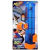 Nerf Dog Blaster mit Kugelclip, 40,6 cm, Blau / Orange / Grau