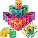 LISOPO 24 Stück Regenbogenspirale Springs Magic Rainbow Puzzle Mitbringsel Kindergeburtstag Lernspielzeug