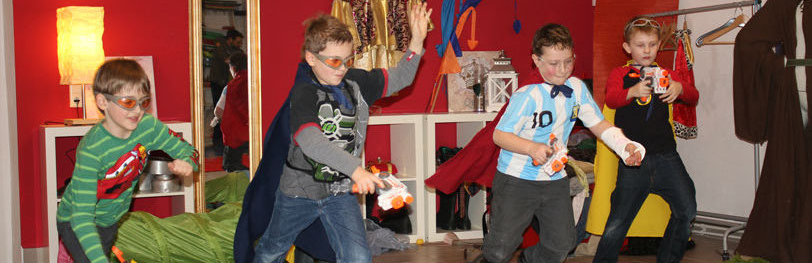 Superhelden Kinderparty