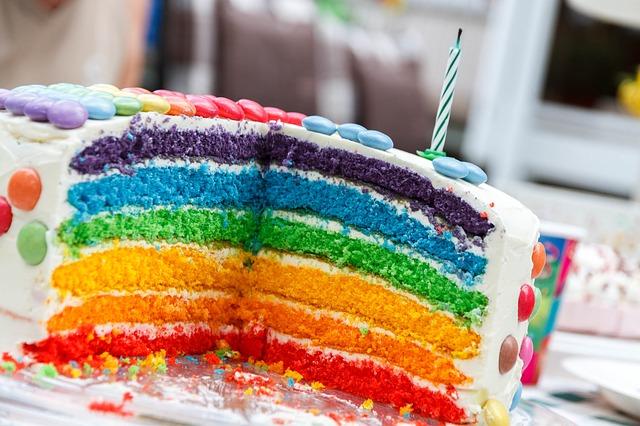 Regenbogen Kuchen