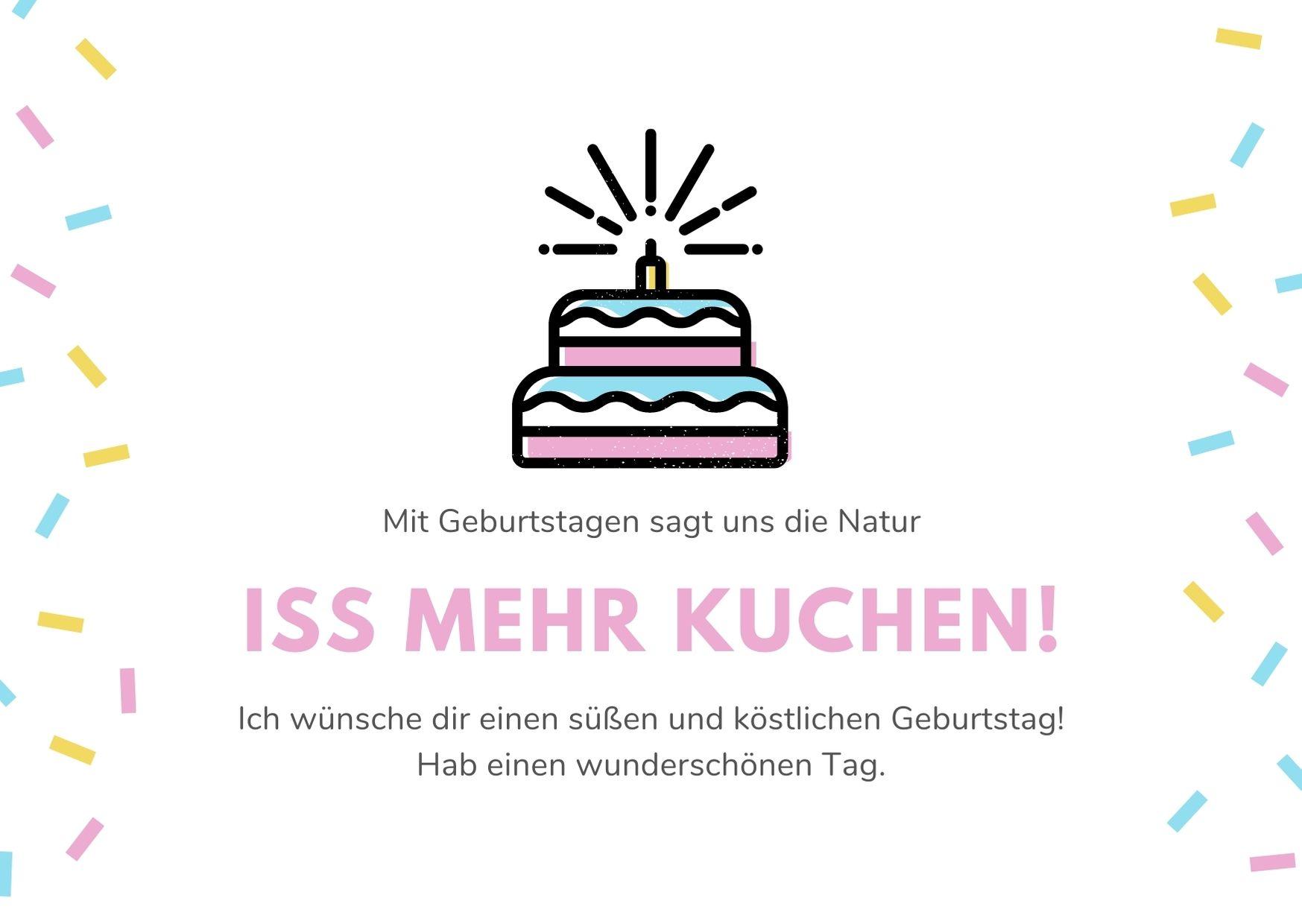Alles Gute zum Geburtstag Kuchen